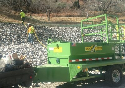 Hydro seed job at Slide Rock State Park